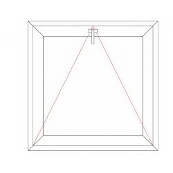 Fenêtre à soufflet (Ouvrant 77mm)