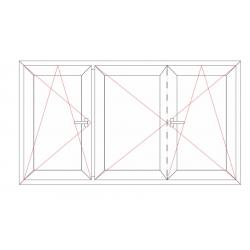 Fenêtre 3 vantaux avec battement