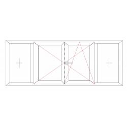 Fenêtre 4 vantaux avec battement