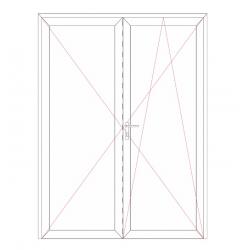 Porte fenêtre 2 vantaux fermeture à clé