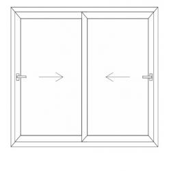 Porte fenêtre 2 vantaux mobile