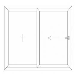 Porte fenêtre 1 vantail fixe 1 vantail mobile