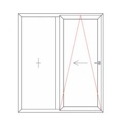 Porte fenêtre oscillo-coulissante 2 vantaux