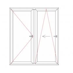 Porte fenêtre 1 vantail oscillo-coulissant 1 vantail oscillant