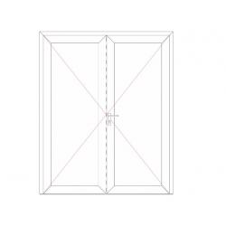 Porte de service 2 vantaux OF